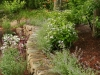 Mulched garden bed