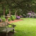 Perennial gardens Hosta Rhodies